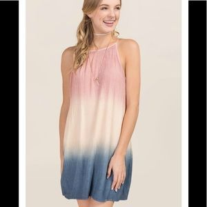 Francesca's PALOMA TIE DYE SHIFT DRESS Medium